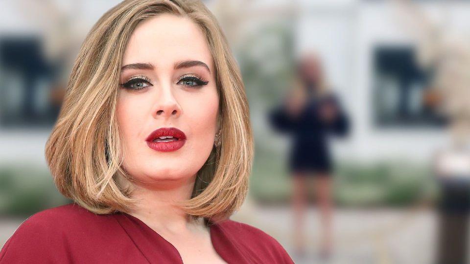 Adele - Mit kurzem Kleidchen und offenem Haar - und krass schlank!