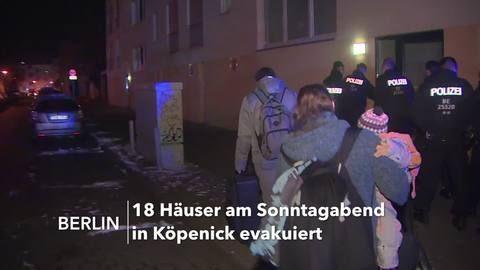 Baugrube voller Wasser: 18 Wohnhäuser in Berlin evakuiert