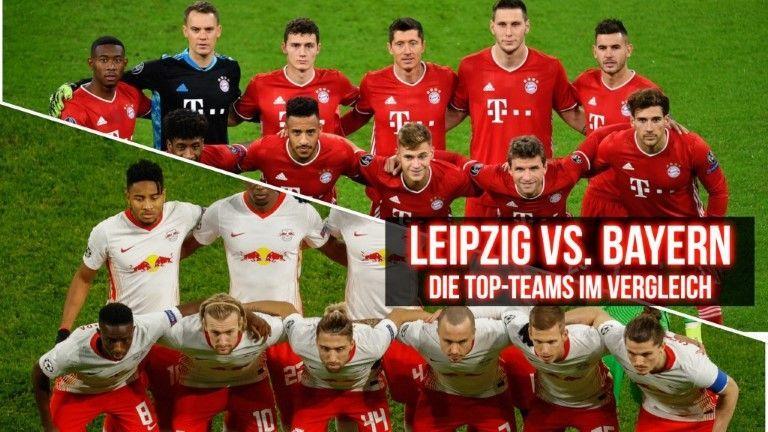 RB Leipzig gegen Bayern München – der Teamvergleich