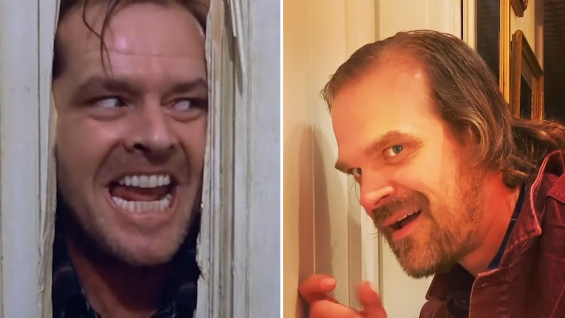 Stranger-Things-Star David Harbour spielt Shining-Szene nach