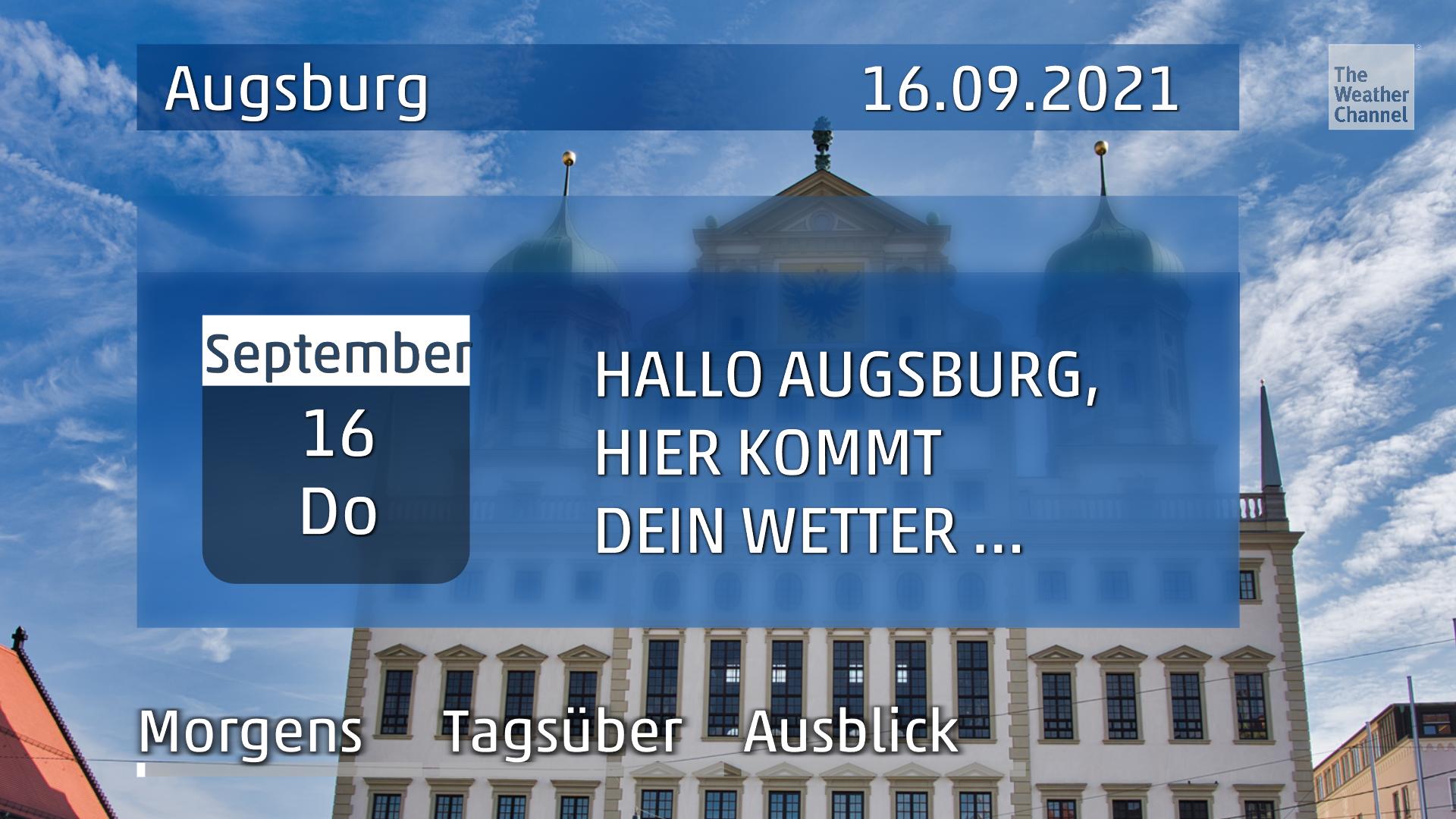 Das Wetter für Augsburg am Donnerstag, den 16.09.2021