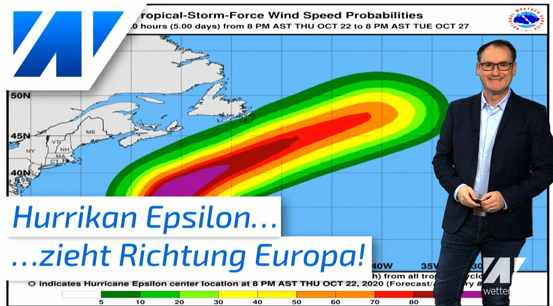 Hurrikan Epsilon rast auf Europa zu! Was bedeutet das für unser Wetter?