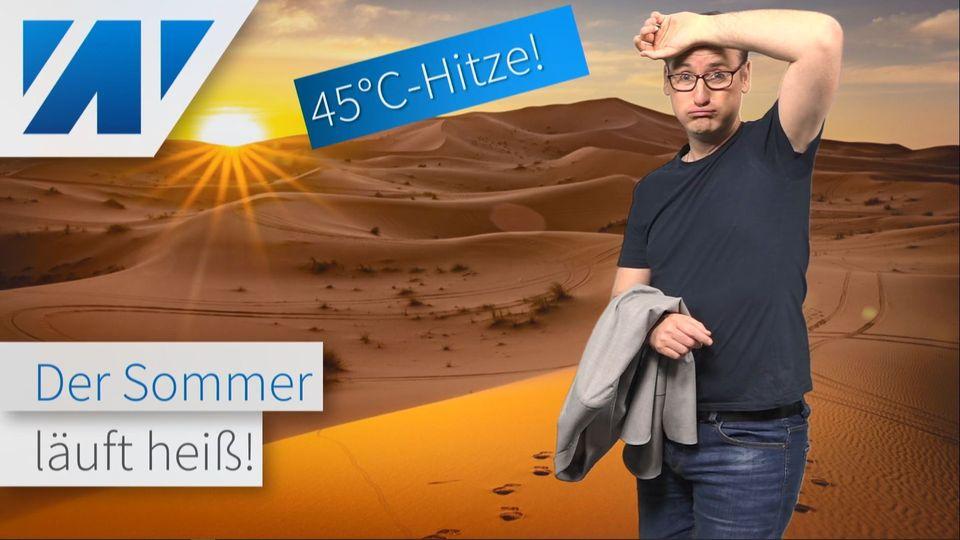45°C-Sahara-Hitze schwappt nach Europa über! Was passiert bei uns?
