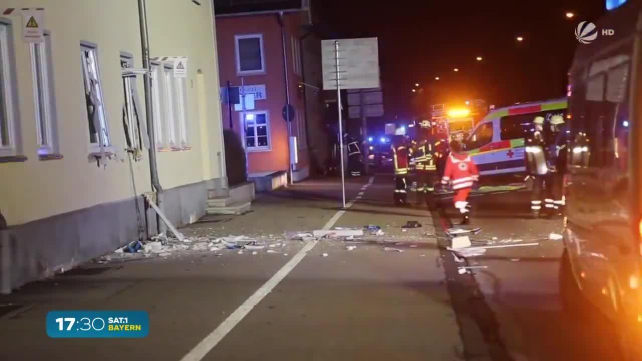 Lauter Knall im Morgengrauen: Fünf Verletzte bei Explosion in Memmingen