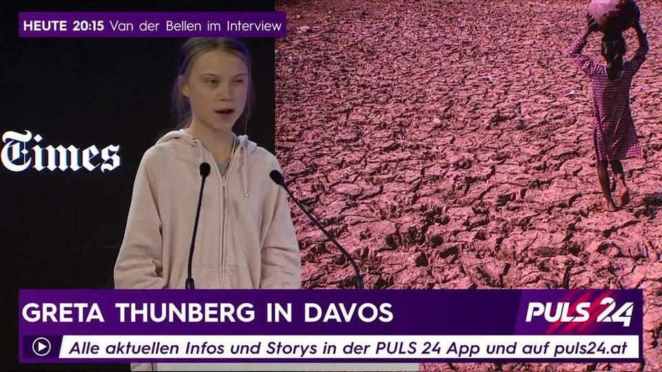 Greta Thunberg beim WEF in Davos
